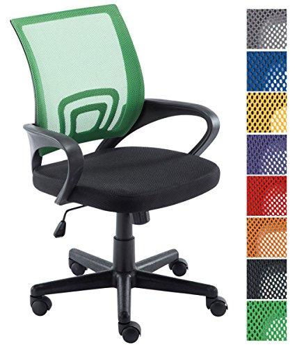 CLP Silla de Escritorio Genius Tapizada en Tejido de Malla I Silla de Estudio Giratoria & Regulable en Altura I Silla de Oficina Ligera I Color: Verde