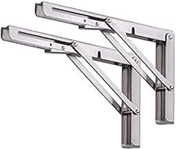 Voarge Klapconsole voor zware belasting, roestvrij staal, klapconsole, roestvrij staal, klapconsole, tafel, klapkasthouder...