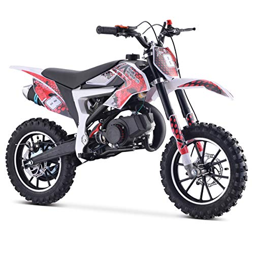 XtremepowerUS 50.5cc Mini Dirt Bike 2-Stroke Gas Power Pocket Off-Road Motorcycle Mini Kids Ride-on Dirt Bike EPA (Red)