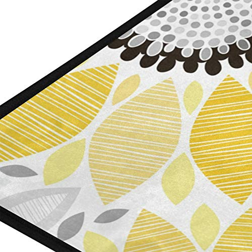 MOYYO Kitchen Mat Abstract Floral Sunflowers Kitchen Rug Mat Anti-Fatigue Comfort Floor Mat Non Slip Oil Stain Resistant Easy to Clean Kitchen Rug Bath Rug Carpet for Indoor Outdoor Doormat