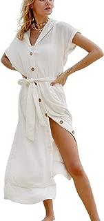 FINCATI Women Beach Cover Ups Cardigan Blouse Long Bikini Kimono Wraps Chiffon Rayon