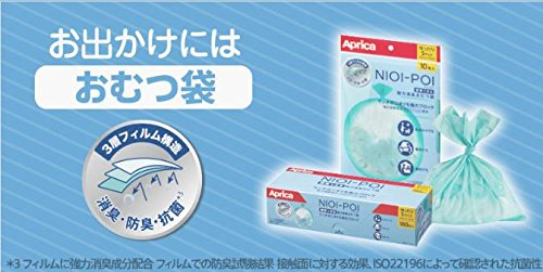 Aprica(アップリカ)ニオイポイ強力消臭オムツ袋75枚入りポリバッグタイプ2055331