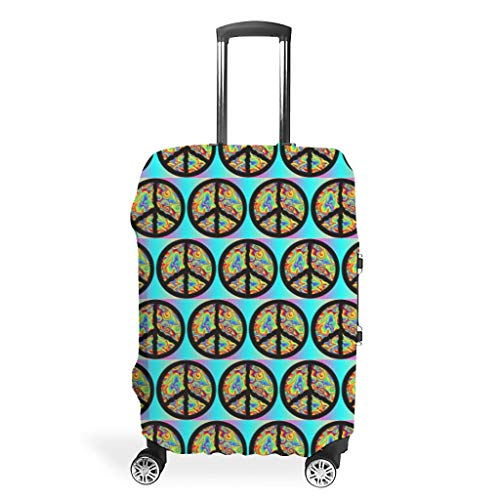 Travel Suitcase Cover Protector - Elastic 4 Sizes Fit Most Luggage, White (White) - Twelve constellations-XLXT