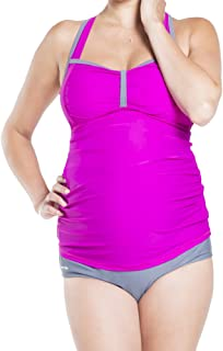 Oceanlily Ruched FRNT Maternity Swimwear Pregnancy Swimsuit Bathing Suit Swim Tankini Top