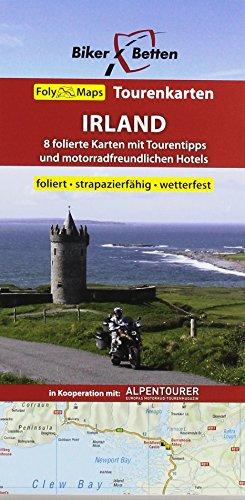 Tourenkarten Set Irland (FolyMaps): 1:250 000: Tourenkarten Set. 8 folierte Karten mit Tourentipps und motorradfreundlich, Maßstab 1:250 000