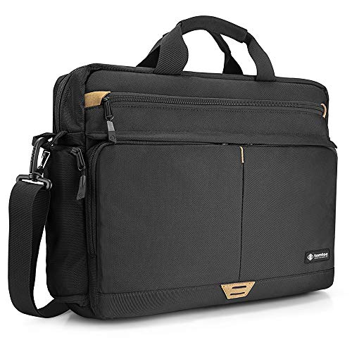 tomtoc 15.6 Inch Laptop Shoulder Bag for 16-inch New MacBook Pro 2019, Anti-Shock Laptop Messenger Bag Briefcase Fits 13 14 15 15.6 Inch HP Dell Acer Lenovo Asus Samsung Notebook Tablet
