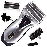 Brite Bht-550 Professional Rechargable Shaver For Men (Silver)
