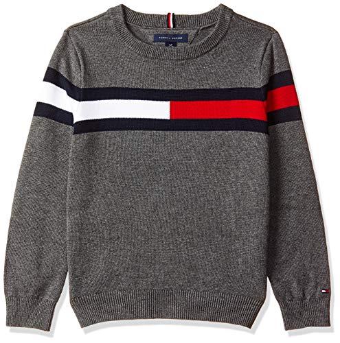 Tommy Hilfiger Boy's Cotton Sweater (A8CCS11116_Medium Grey Heather B50_16)