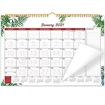 """Wall Calendar 2020-2021 for Planning 15"""" x 11.5"""" 18 Month"""