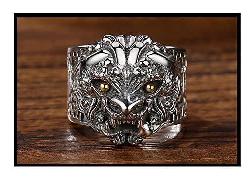 Sterling Silber offener Ring, männlich und weiblich herrschsüchtig mythischen Wildtier Ring Hip-Hop Retro Hipster Souvenir Schmuck.-24