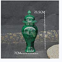 CHENBIN-BB 磁器花瓶古代磁器のヒスイ緑釉の花瓶一般ポット装飾セラミック工芸の彫像 陶器