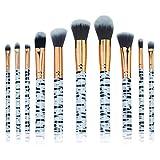 Dosige Pinceles Profesionales Maquillaje Cosmética Cepillo Set Herramientas 10PCS