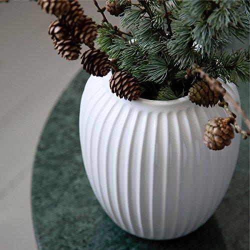 Kähler Design - Vase / Blumenvase - Hammershøi - Porzellan - weiß - Höhe 25 cm