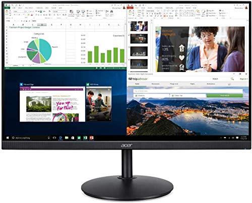 "Monitor ACER 23,8"" CB242Y LED/IPS Zero Frame FHD 75HZ 1MS Multimidia HDMI VGA Display PORT Altura e Rotacao"
