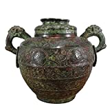 LAOJUNLU Western Zhou Período Bronce Chilong Ear Inscripción Lei Pot Antiguo Obra Maestra Colección De Solitaria China Estilo Tradicional Joyería