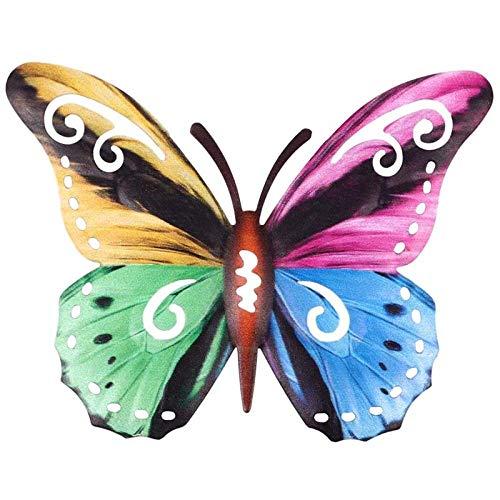 Metal Craft - Pegatinas decorativas para pared, diseño de mariposas, hierro forjado, para colgar en la pared, multicolor