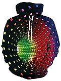 ALISISTER Unisex 3D Druck Hoodies Kapuzenpullover Langarm Bunte Vortex Grafik Pullover Kapuzenpull Sweatshirt Kapuzenjacke M