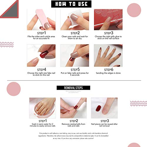 Bodiy Oval Press on Nails Black Butterfly Matte Long Fake Nail Almond French Full Cover Arcyllic False Nail for Women and Gilrs (Peices of 24)