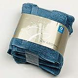 Charisma Luxury Hand Towels & Wash Cloths 4-Pack, Blue Shadow