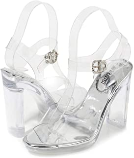 Transparent Sandals Women's Shoes High Heel Waterproof Platform