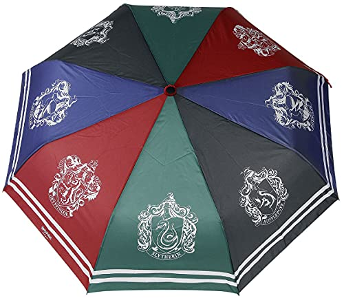 ABYstyle Harry Potter Häuser Unisex Regenschirm Multicolor Polyester Fan-Merch, Filme