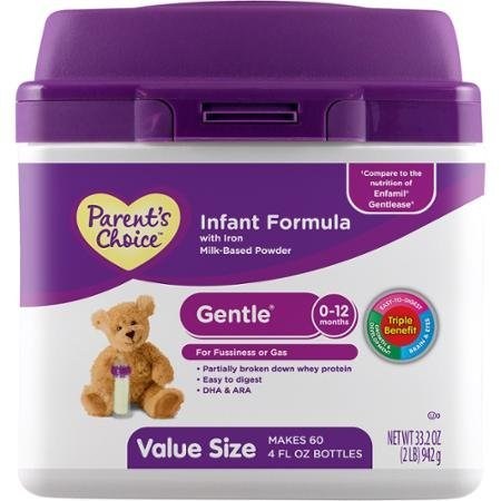 Parent's Choice Gentle Infant Formula with Iron, 33.2 oz by Parent's Choice
