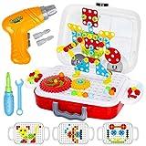Dreamon Construccion Rompecabezas Niños, Montessori Puzzles con Taladros Eléctrico Juegos Educativos para Niños, 253 PCS