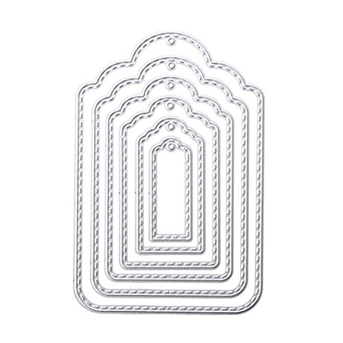 Rokoo Hang Tag Metal Cutting Dies Stencil para álbum de Recortes Scrapbooking Photo Album DIY Craft Paper Card