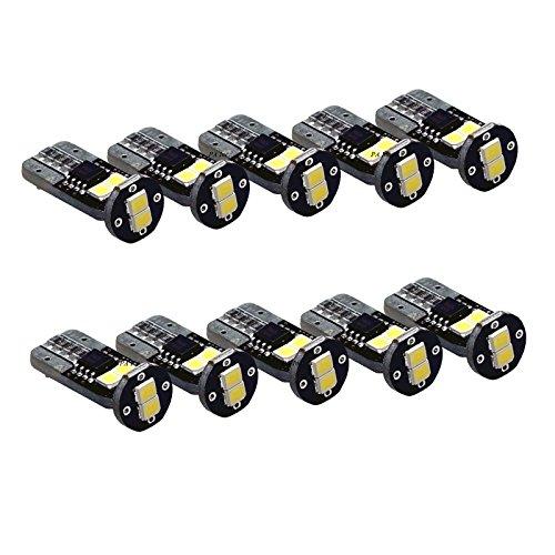 PA 10 pcs 194 168 175 2825 T10 2835 LED Super Bright ampoules 12 V – Xenon Blanc