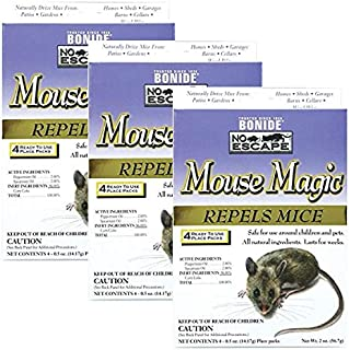 Bonide 865 4 Count Mouse Repellent, 2-Ounce 3 - Pack (12 Count)