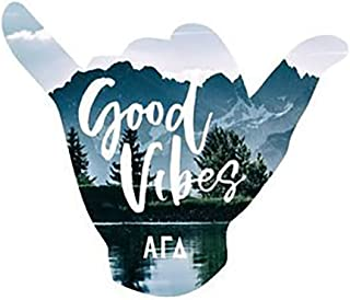 Greekgear Alpha Gamma Delta Good Vibes Sticker Decal