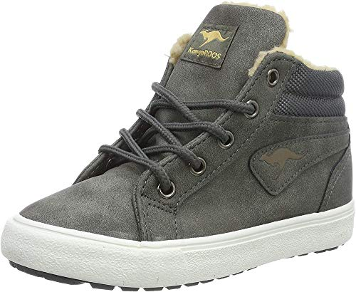 KangaROOS Unisex-Kinder KaVu I Hohe Sneaker, Grau (Dk Grey/Sand 211), 32 EU