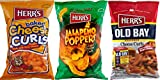 Herr's Baked Cheddar Cheese Curls, Jalapeno Poppers & Old Bay Seasoned Curls Variety 3-Pack