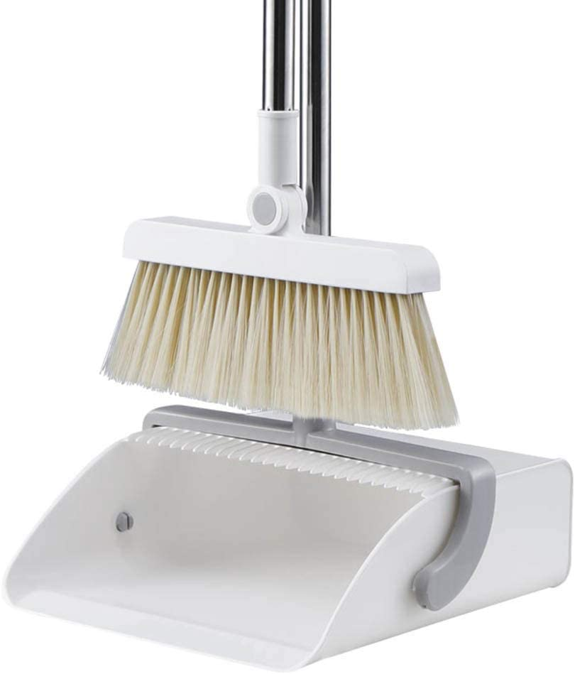 NLIAN- Broom and Dustpan Lengthe San Francisco Mall Purchase with Set Upright-Stand