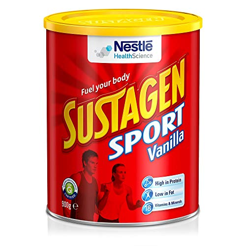 Sustagen Sport Powder - Ready to Mix Protein Supplement for Exercise, Tissue Building & Repair - 18 Vitamins & Minerals for Energy Support & Optimal Nutrition - Vanilla - 900g