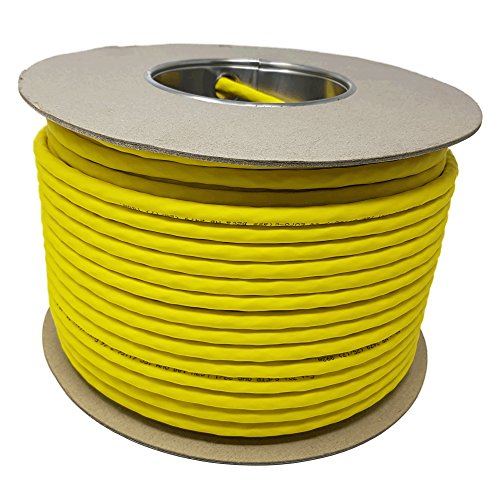 100m CAT 7 A+ Ethernet Netzwerk LAN Kabel Spule Drum 1500MHz 4 Paar High Speed Halogen Frei Kupfer Super Schnell PoE+ Gelb