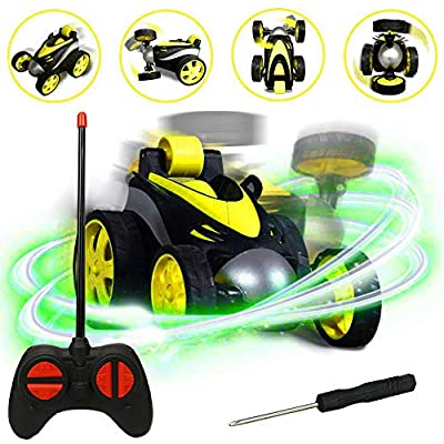 RC Cars, LGUIY Kids Toys Remote Control Car Stunt Car Vehicle High Speed 360 Degree Rotation Flip Racing Car Upright Driving Christmas Birthday Gifts Gadgets Toys for Boys Girls (Yellow) by LGUIY