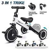 XJD 3 in 1 Kids Tricycles for 1-3 Years Old Kids Trike 3 Wheel Bike...