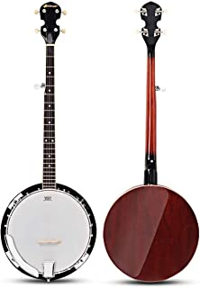Costzon 5-String Banjo 24 Bracket with Geared 5th tuner and Mid-range Closed Handle, Include 420D Oxford Cloth Bag, One Strap, Wiper, 3 Picks for Beginners (41.5 IN)