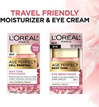 L'Oreal Paris Skin Care Age Perfect Rosy Tone Eye Brightener & Travel Size Face Moisturizer Anti-Aging Skin Care Set, 1 Kit