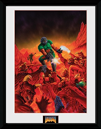 1art1 Doom - Classic Key Art Gerahmtes Bild Mit Edlem Passepartout | Wand-Bilder | Kunstdruck Poster Im Bilderrahmen 40 x 30 cm