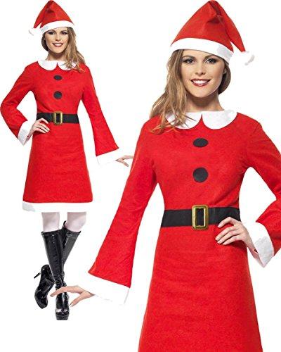 di Smiffy - Costume Madre di Natale per Le Donne Taglia 12 a 14 Anni (26965M)