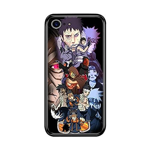 Cover iPhone 7 / iPhone 8 4.7 Pollici Naruto Uchiha Obito Cover Posteriore Rigida per PC E Telaio in Gomma TPU di Alta qualità Custodia Protettiva B-042