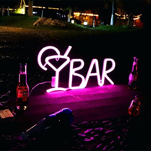 Cartel De Neón Para BAR, Lámpara LED De Neón Para Bar, KTV, Tienda De Aperitivos, Decoración De Navidad Para La Pared, 26X57cm,Rosado