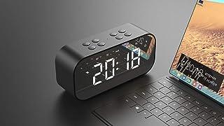 HSXOT Moderno Led Digital Mudo con Despertador Despertador Negro.