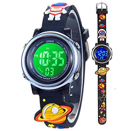 Relojes Digitales para niños pequeños para niñas, Reloj de Pulsera electrónico Deportivo a Prueba de Agua de Dibujos Animados en 3D con cronómetro de Alarma Durante 3-10 años