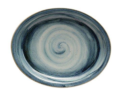 Corona Fuente, Porcelana, Azul, 29x27,5x3 cm