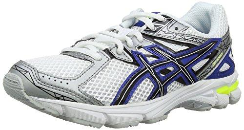 ASICS Gt-1000 3 Gs C463N-0190, Unisex - Kinder Laufschuhe Training, Weiß (White/Black/Blue 190), 33.5 EU