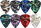 Fender 351 Premium Celluloid Guitar Picks (12-Pack) Medium Black Moto Medium