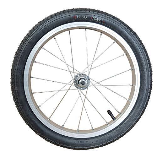 Unbekannt 16 Zoll Laufrad Vorderrad Alufelge f. Anhänger/Kinderrad 10 mm Achse m. Muttern